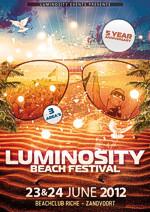 Flyer: Luminosity Beach Festival 2012